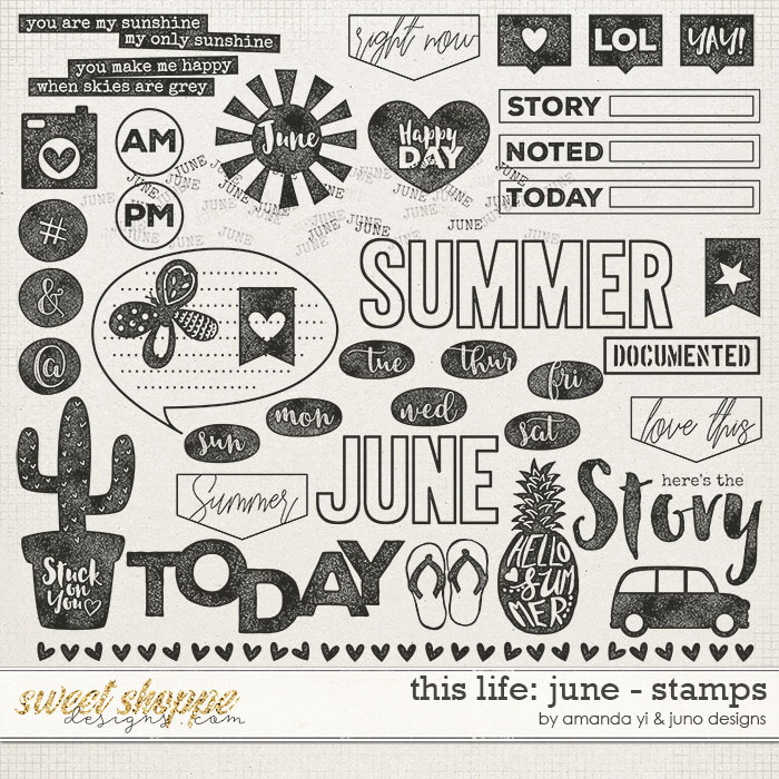 This Life: June - Stamps by Amanda Yi & Juno Designs