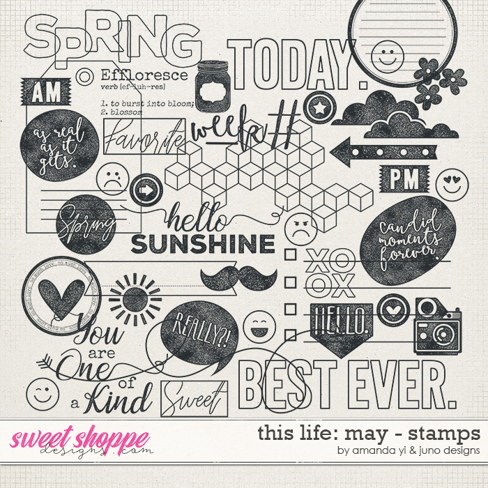 This Life: May - Stamps by Amanda Yi & Juno Designs