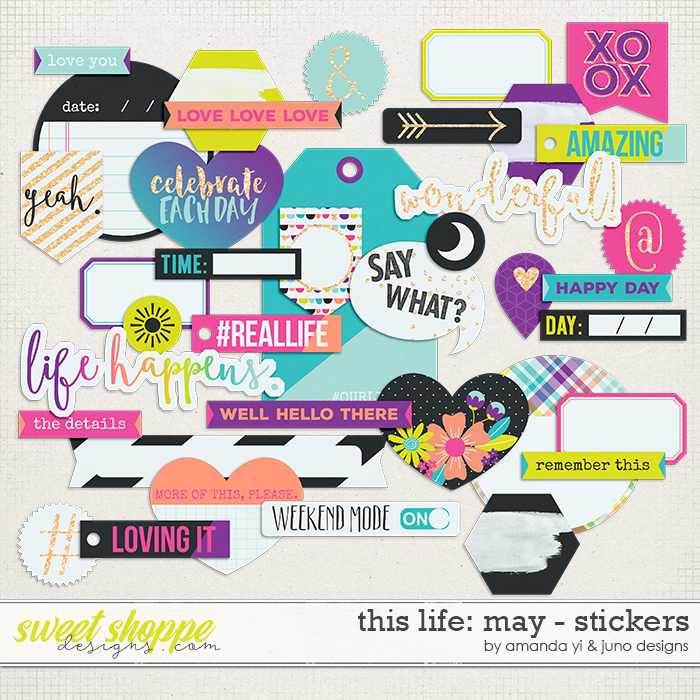 This Life: May - Stickers by Amanda Yi & Juno Designs