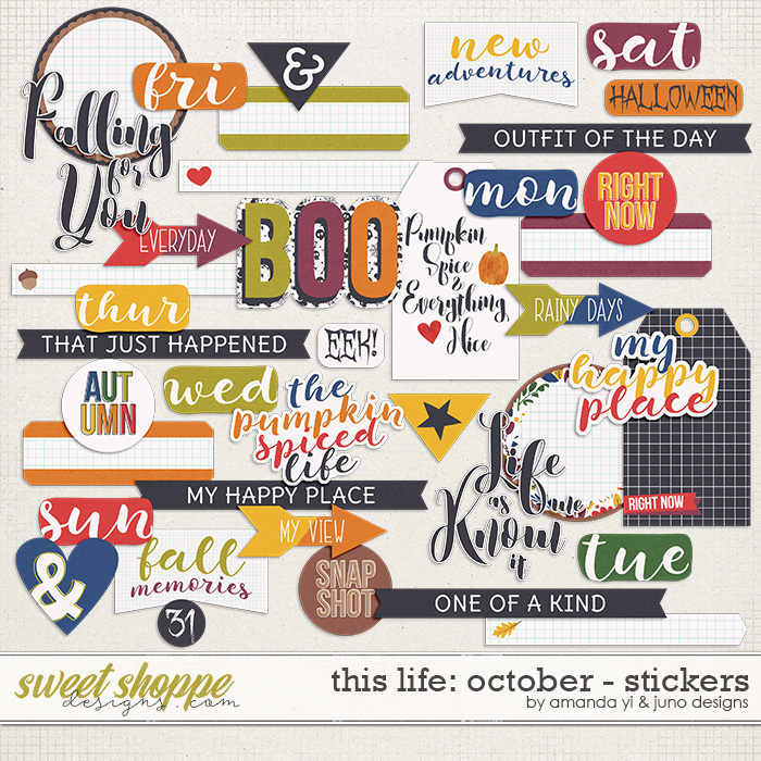 This Life: October - Stickers by Amanda Yi & Juno Designs