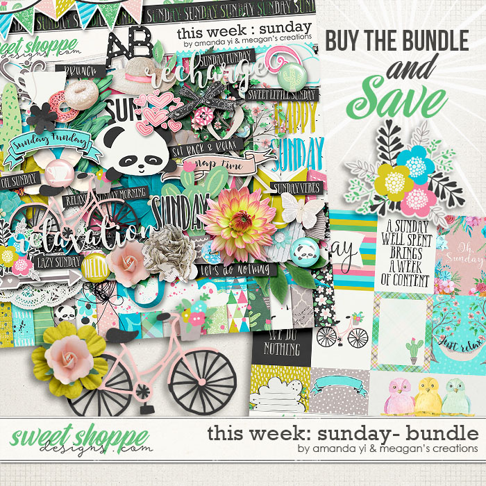 This Week: Sunday - Bundle by Amanda Yi & Meagan's Creations