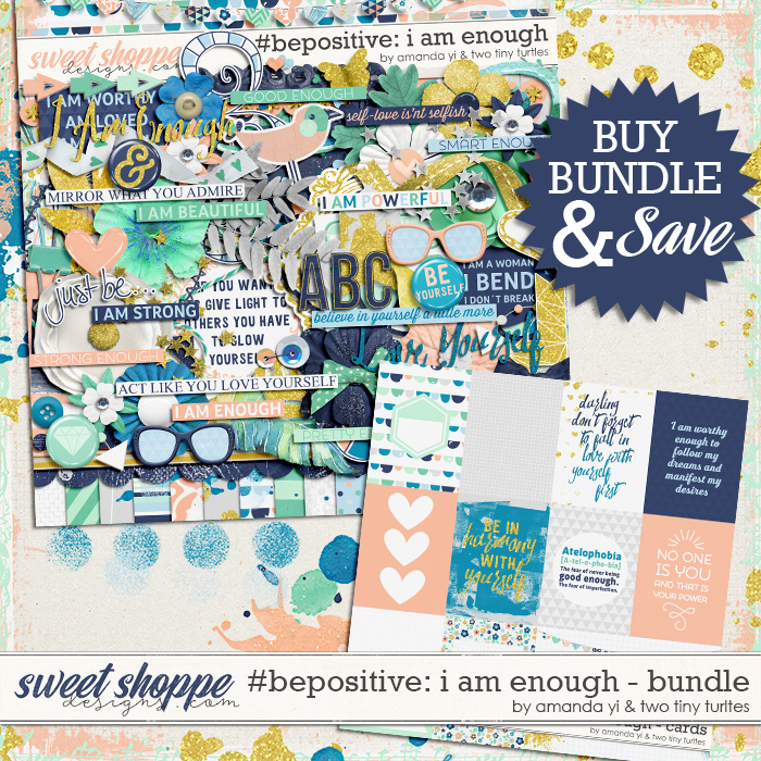 #Be Positive: I Am Enough Bundle by Amanda Yi & Two Tiny Turtles