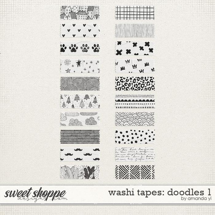Washi tapes: doodles 1 by Amanda Yi