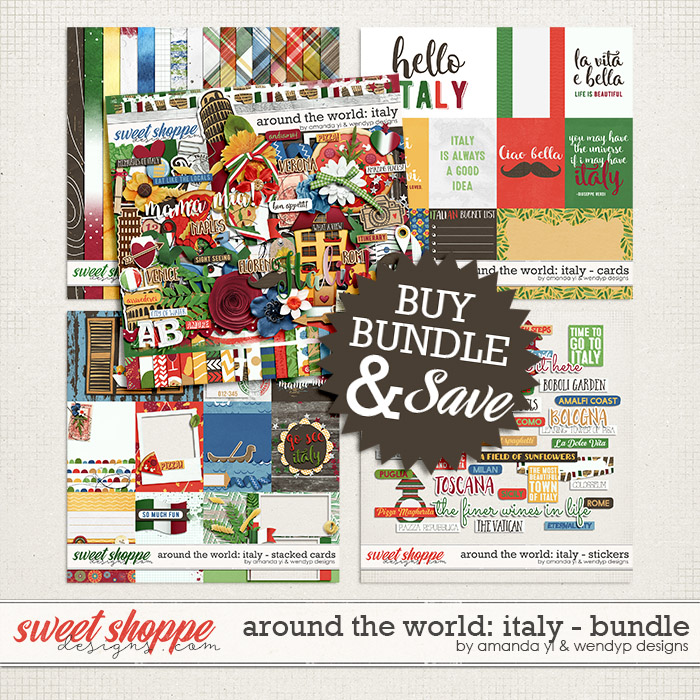 Around the world: Italy - bundle by Amanda Yi and WendyP Designs