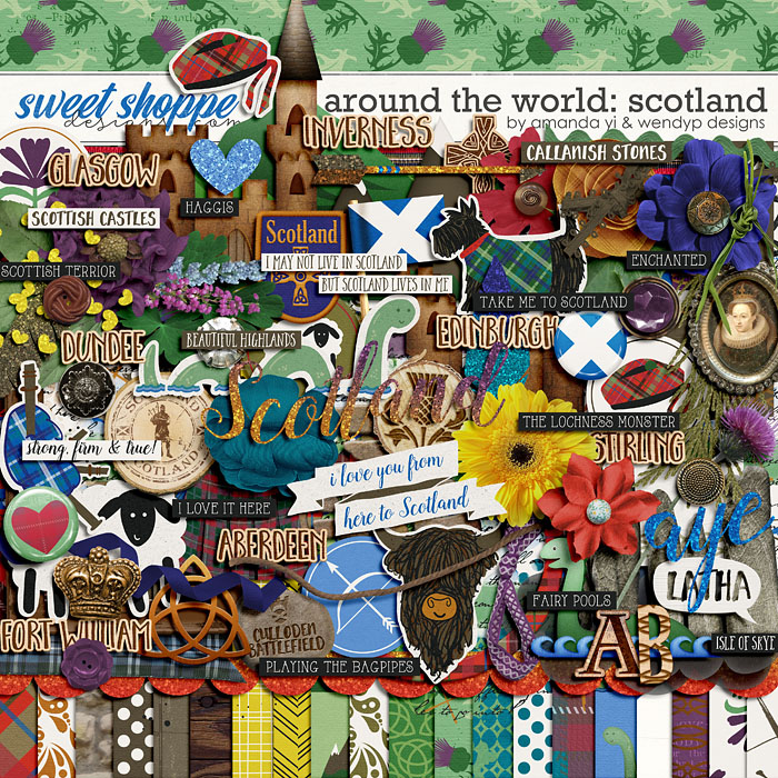 Around the world: Scotland by Amanda Yi and WendyP Designs