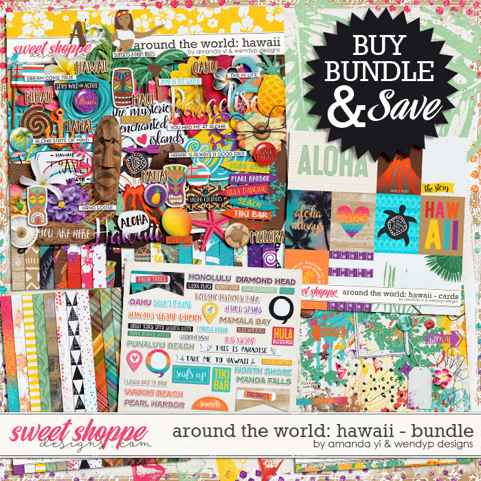 Around the world: Hawaii - bundle by Amanda Yi and WendyP Designs