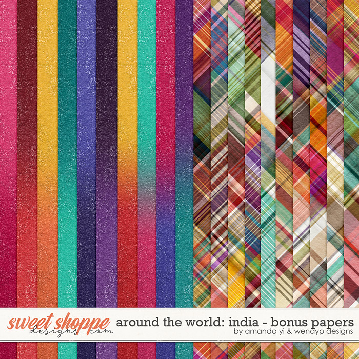Around the world: India - Bonus Papers by Amanda Yi & WendyP Designs