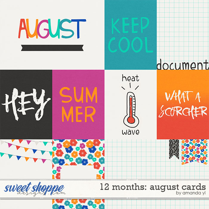 12 Months: August Cards by Amanda Yi