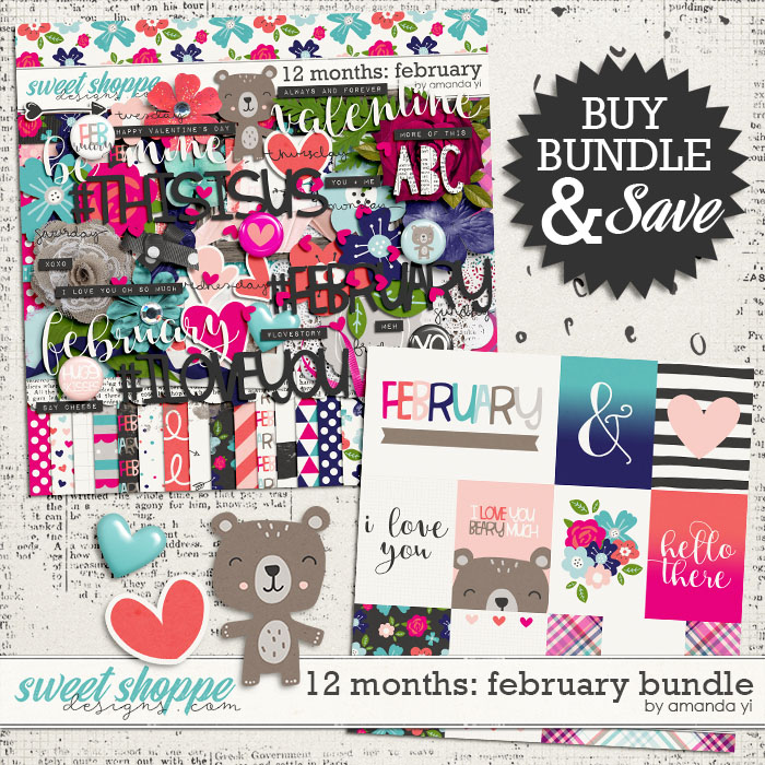 12 Months: February Bundle by Amanda Yi