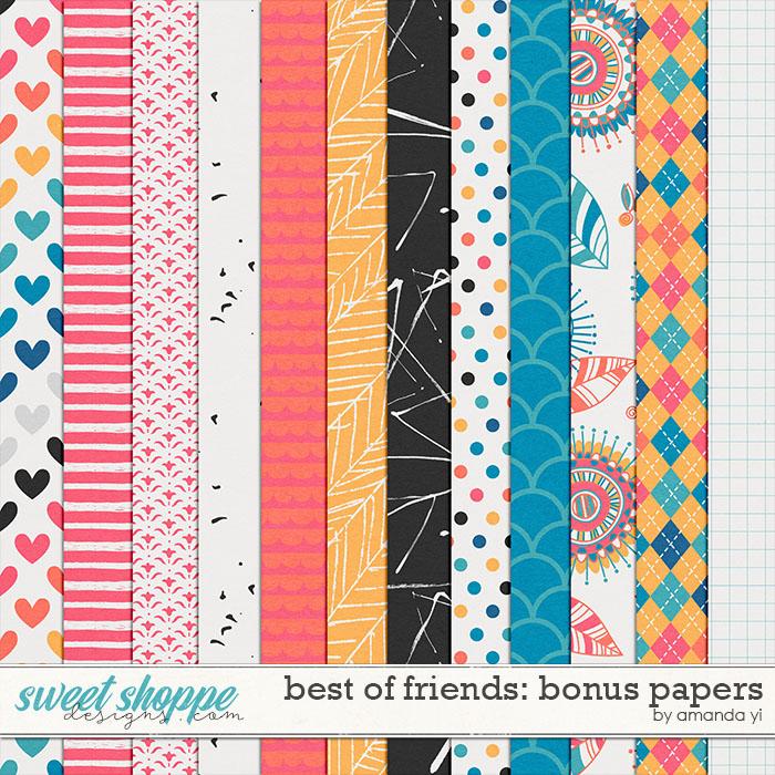 Best of Friends: Bonus Papers by Amanda Yi