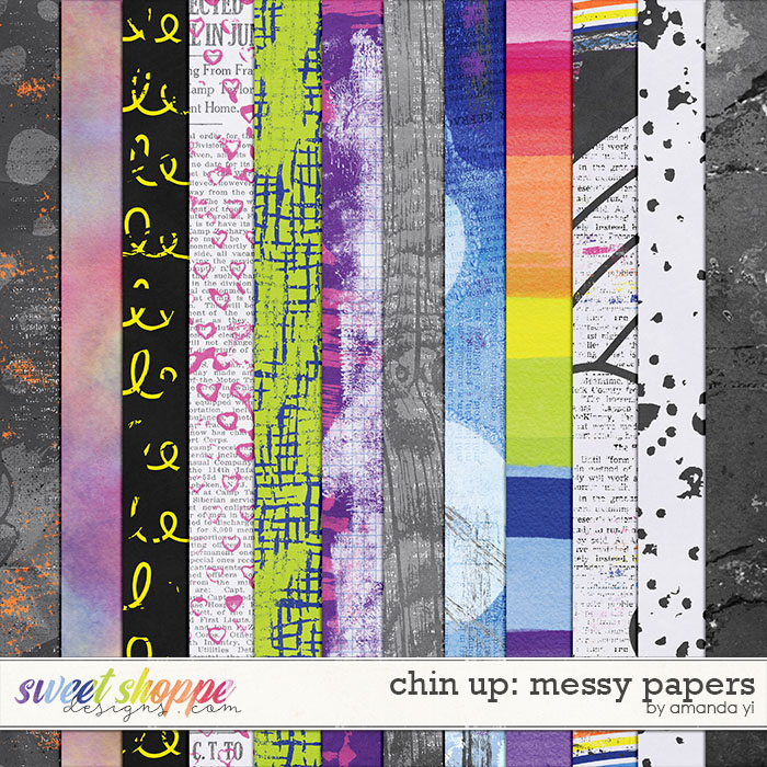 Chin Up - Messy Papers by Amanda Yi