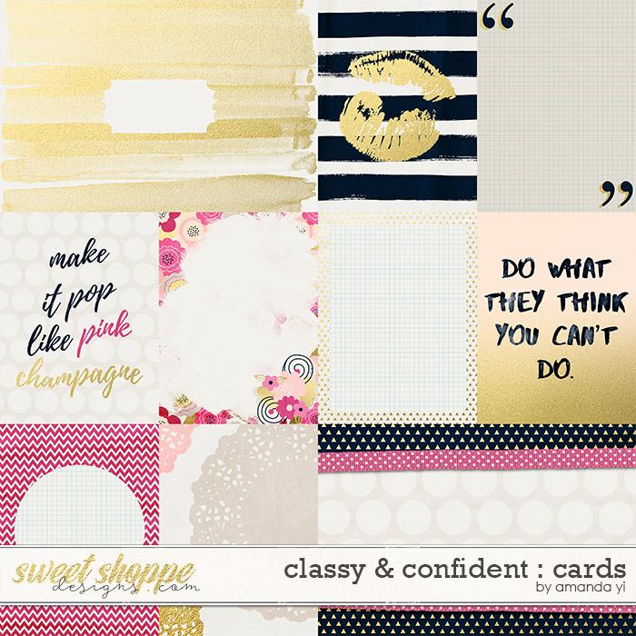 Classy & Confident : Cards by Amanda Yi