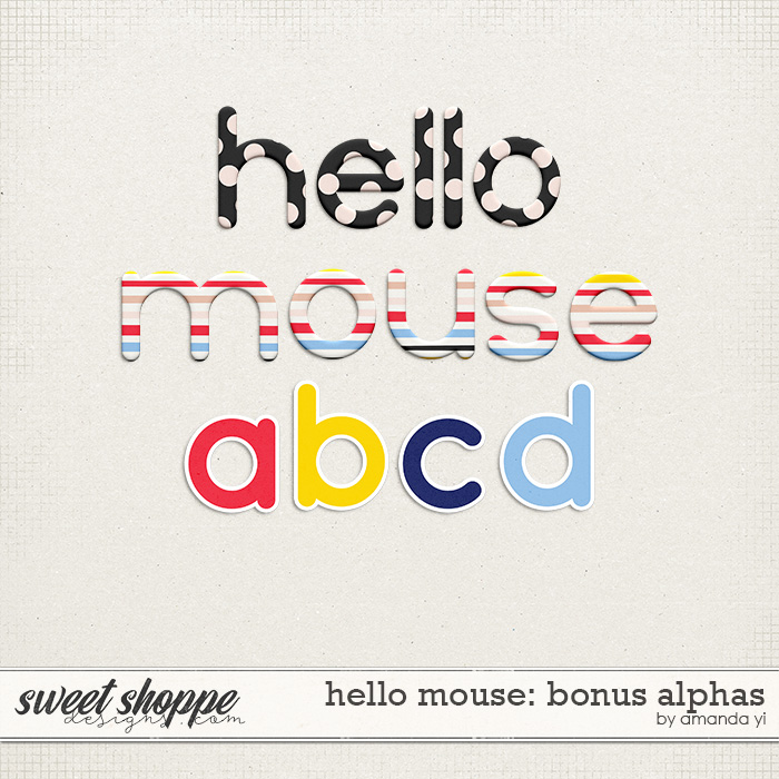 Hello Mouse: Bonus Alphas by Amanda Yi