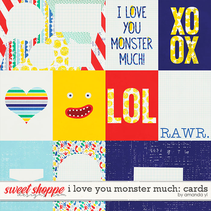 I Love You Monster Much : Cards by Amanda Yi