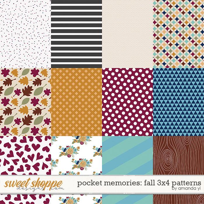 Pocket Memories: Fall 3x4 Patterns by Amanda Yi