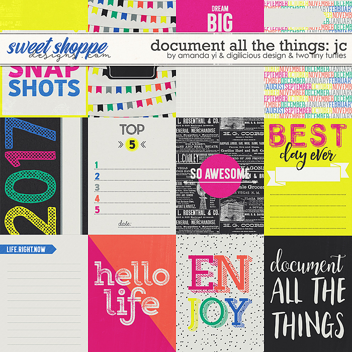 Document All The Things: Cards by Amanda Yi, Digilicious Design & Two Tiny Turtles