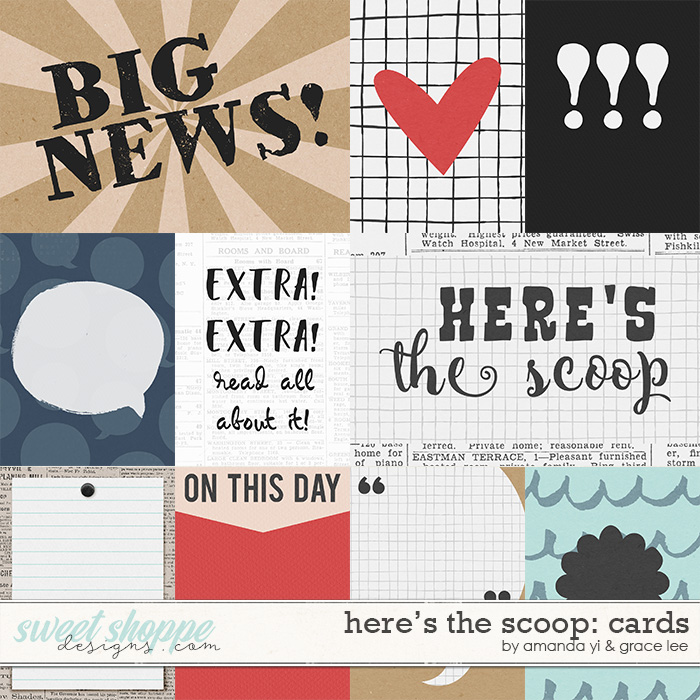 Here's The Scoop: Cards by Amanda Yi and Grace Lee