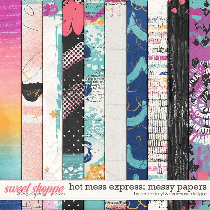Hot Mess Express Messy Papers by Amanda Yi & River Rose Designs