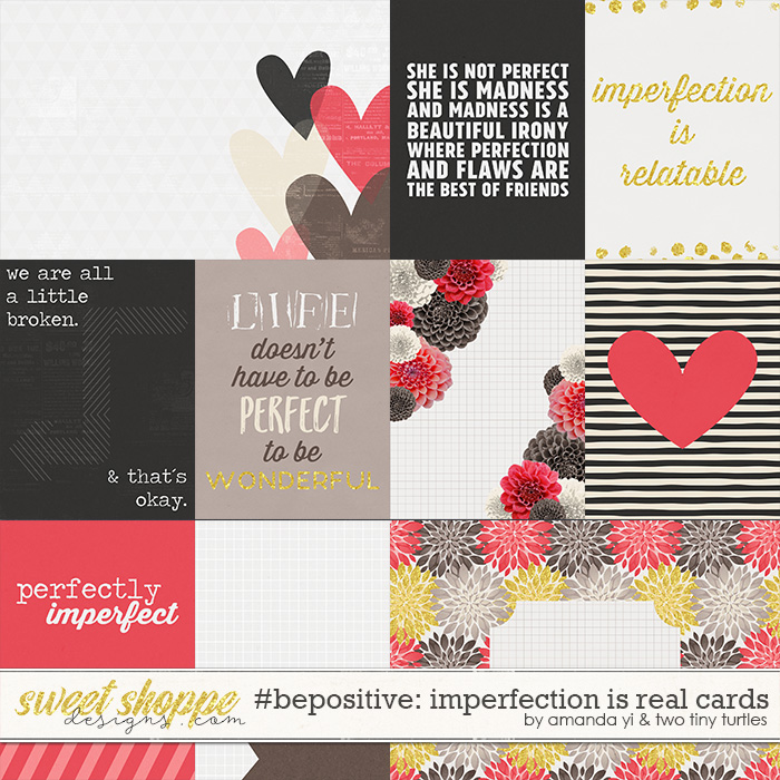 #bepositive: Imperfection Is Real cards by Amanda Yi & Two Tiny Turtles