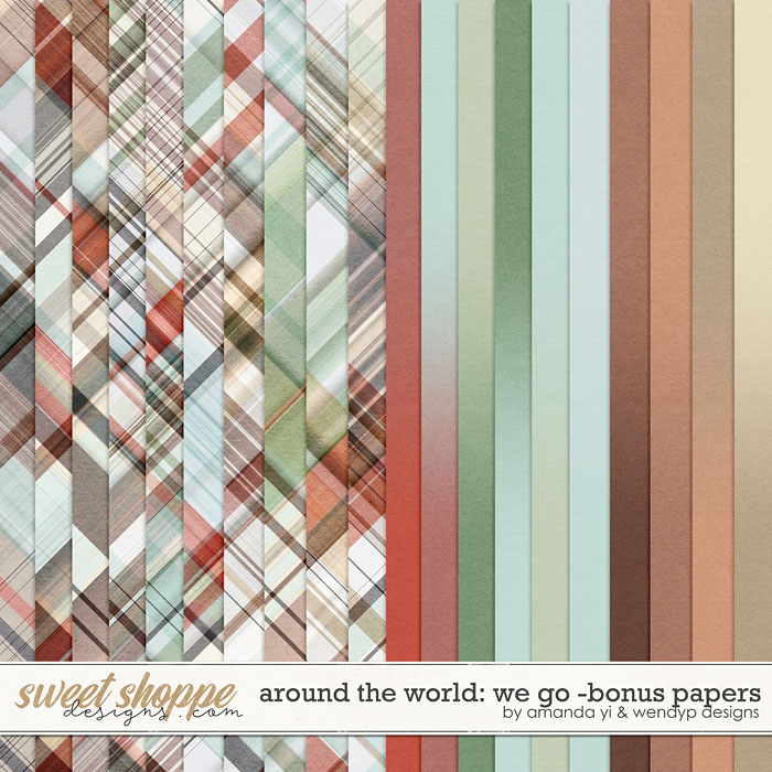 Around the world: We Go - Bonus Papers by Amanda Yi & WendyP Designs
