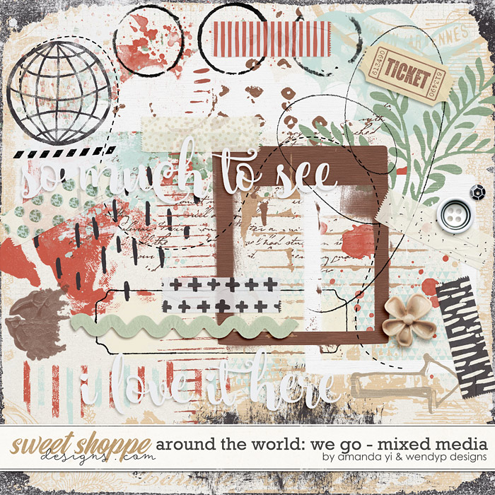 Around the world: We Go - Mixed Media by Amanda Yi & WendyP Designs