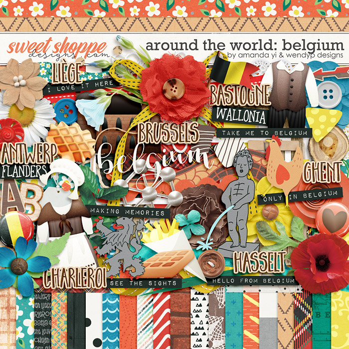 Around the world: Belgium by Amanda Yi & WendyP Designs