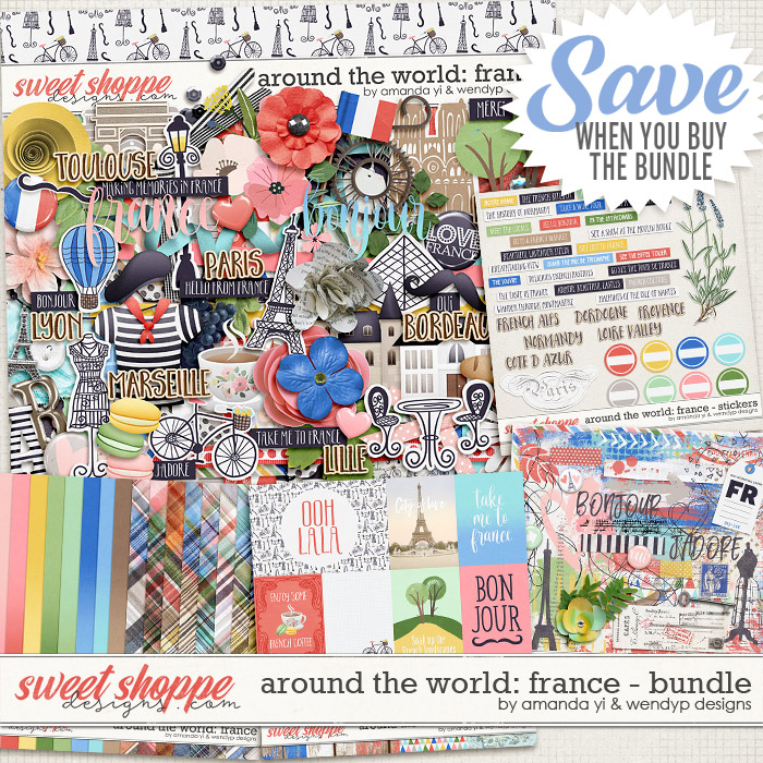 Around the world: France - Bundle by Amanda Yi & WendyP Designs