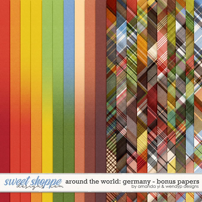 Around the world: Germany - Bonus Papers by Amanda Yi & WendyP Designs