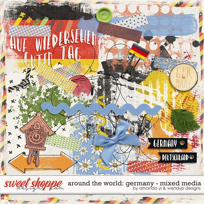 Around the world: Germany - Mixed Media by Amanda Yi & WendyP Designs