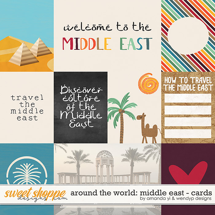 Around the world: Middle East cards by Amanda Yi & WendyP Designs