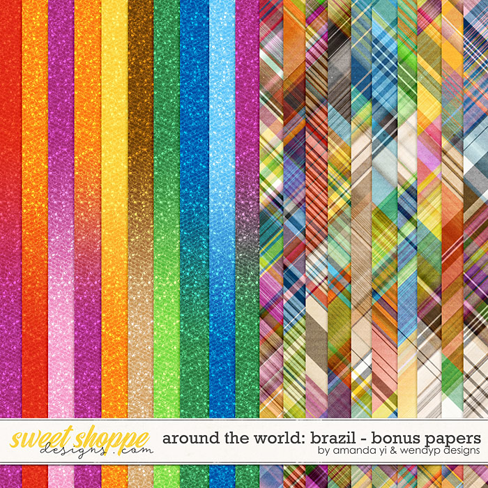 Around the world: Brazil - Bonus Papers by Amanda Yi & WendyP Designs