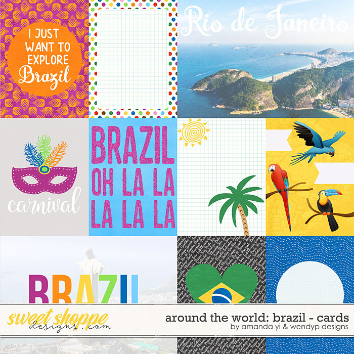 Around the world: Brazil - Cards by Amanda Yi & WendyP Designs