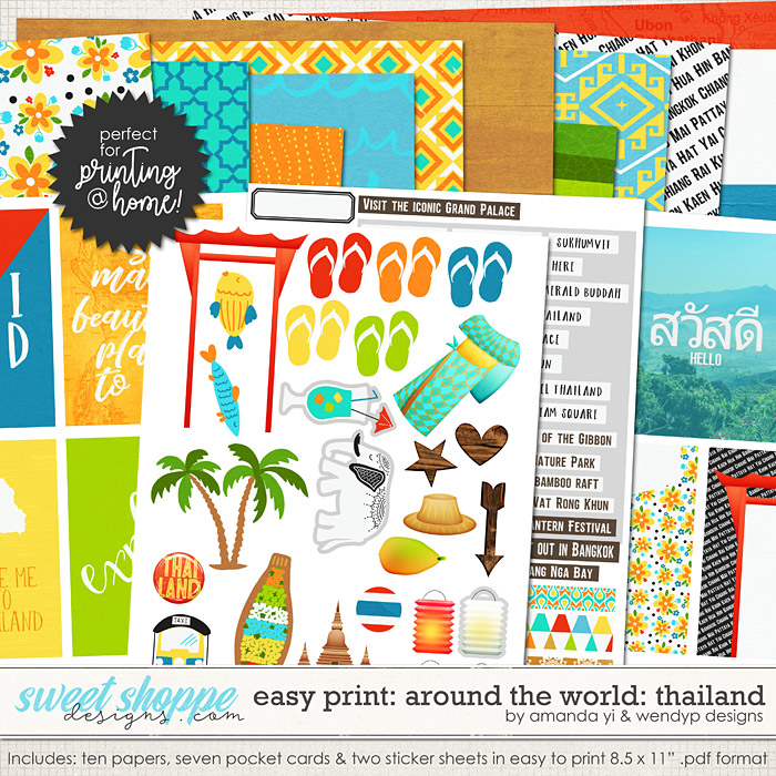 Easy Print Around the world: Thailand by Amanda Yi & WendyP Designs
