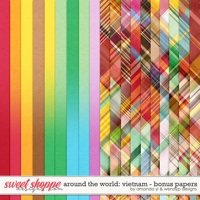Around the world: Vietnam - Bonus Papers by Amanda Yi & WendyP Designs