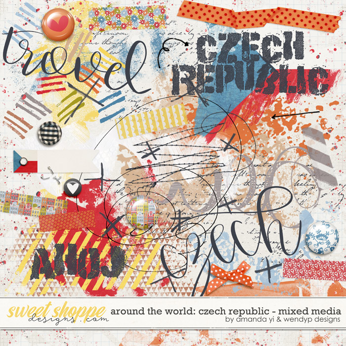 Around the world: Czech Republic - Mixed Media by Amanda Yi & WendyP Designs