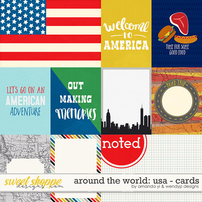 Around the world: USA - Cards by Amanda Yi and WendyP Designs