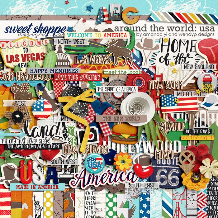 Around the world: USA by Amanda Yi and WendyP Designs