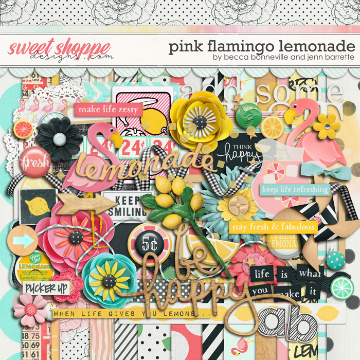 Pink Flamingo Lemonade by Jenn Barrette & Tickled Pink Studio