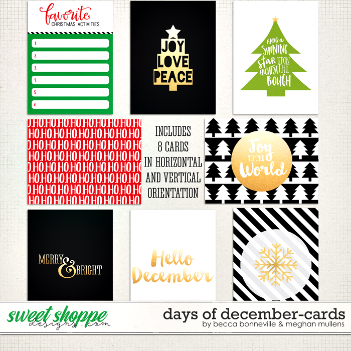 Days of December Cards by Meghan Mullens & Becca Bonneville