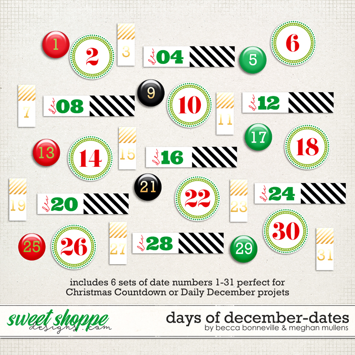 Days of December Dates by Meghan Mullens & Becca Bonneville