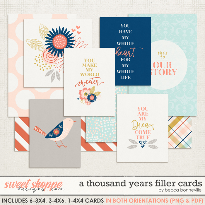 A Thousand Years Filler Cards by Becca Bonneville