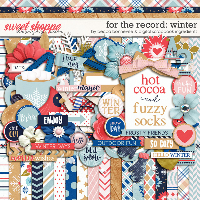 For The Record: Winter by Becca Bonneville & Digital Scrapbook Ingredients