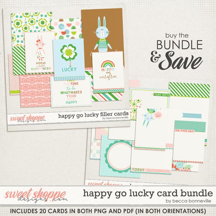Happy Go Lucky Card Bundle by Becca Bonneville