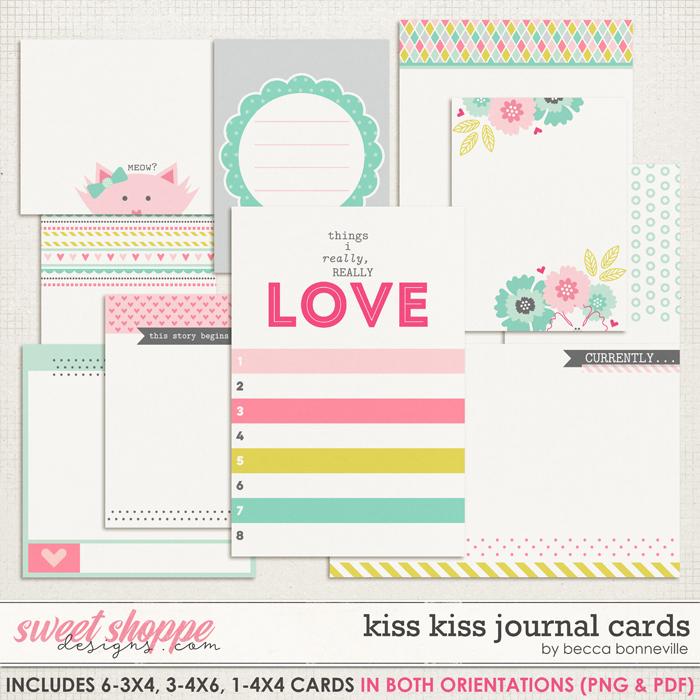 Kiss Kiss Journal Cards by Becca Bonneville