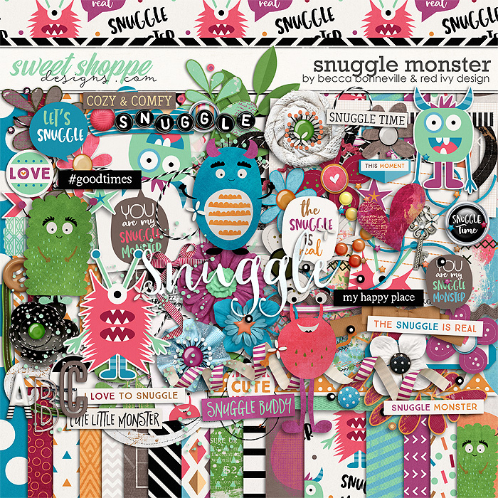 Snuggle Monster by Becca Bonneville & Red Ivy Design