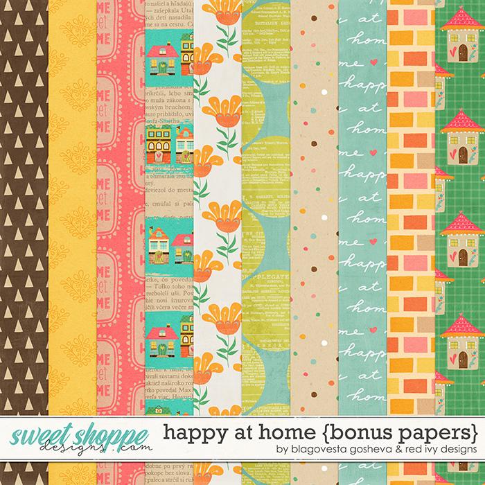 Happy at Home - Bonus Papers by Blagovesta Gosheva & Red Ivy Design