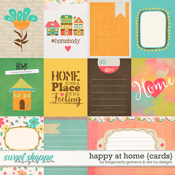 Happy at Home - Cards by Blagovesta Gosheva & Red Ivy Design