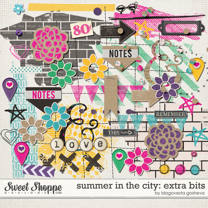 Summer in  the city: extra bits by Blagovesta Gosheva