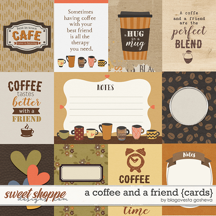A Coffee and a Friend {cards} by Blagovesta Gosheva