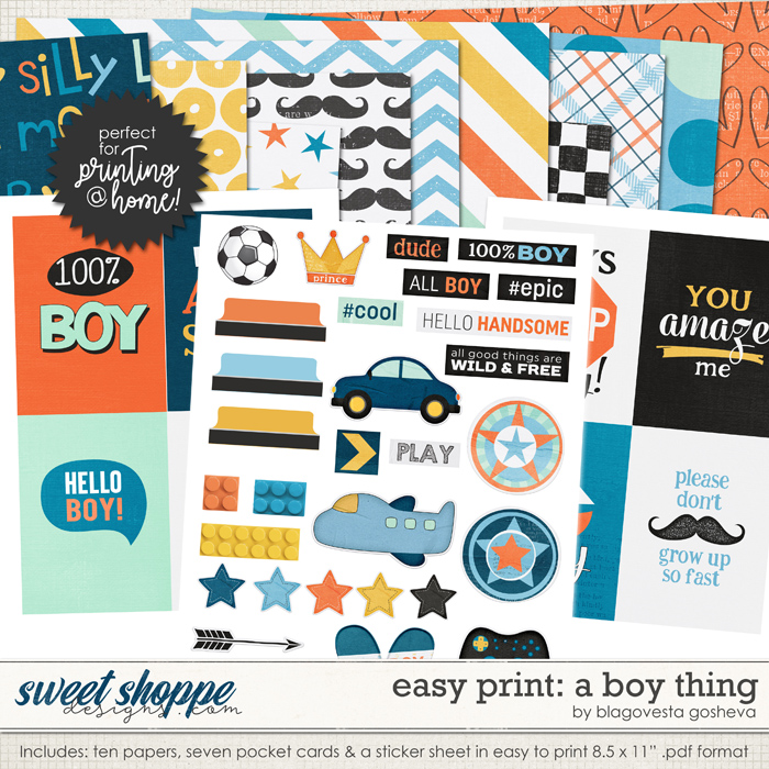 Easy Print: A boy thing by Blagovesta Gosheva